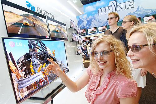 LED televize jako součást moderního interiéru