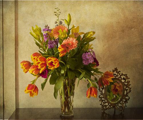 květiny oživí šeď v bytě