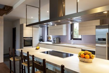 36195298 - beautiful modern loft, view of the kitchen