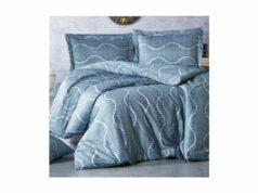 12624 Francouzske Povleceni Saten 240x220 70x90cm Hira Blue